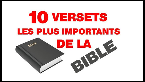 Les versets les plus importants de la bible